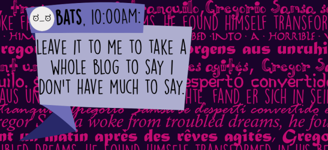 Leave it to me to take a whole blog to say I don't have much to say.