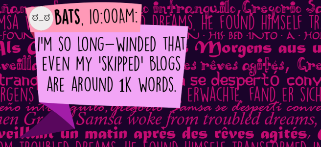 I'm so long-winded that even my 'skipped' blogs are around 1k words.