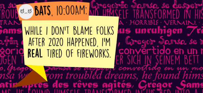 While I don't blame folks after 2020 happened, I'm REAL tired of fireworks.